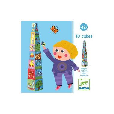 Djeco, piramida 10 kostek z obrazkami
