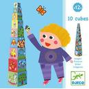 Piramida 10 kostek drzewo Djeco