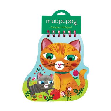 Mudpuppy, notatnik z kolorowymi karteczkami - Koty