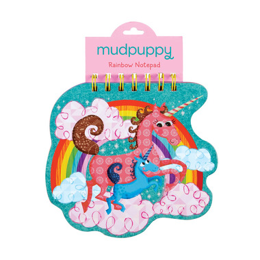 Mudpuppy, notatnik z kolorowymi karteczkami - Jednorożec