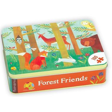 MUDPUPPY Puzzle – 100 elementów Leśne zwierzęta