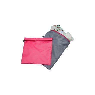 Worki na pieluchy, ubranka 2 szt. różowy i szary