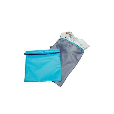 Worki na pieluchy, ubranka 2 szt. niebieski i szary