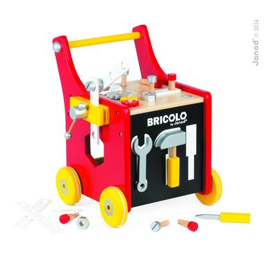 Janod, warsztat z narzędziami Bricolo wózek