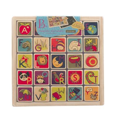 Btoys, magnetyczny alfabet z tablicą kredową B. Toys