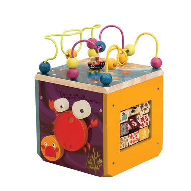 Btoys, drewniana kostka edukacyjna Podwodne ZOO B.Toys