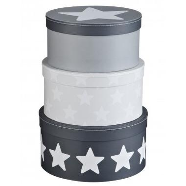 Pudełka Kartonowe Okrągłe szare