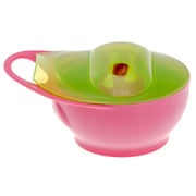 Zestaw miseczek i łyżeczek Easy Hold różowo- zielony