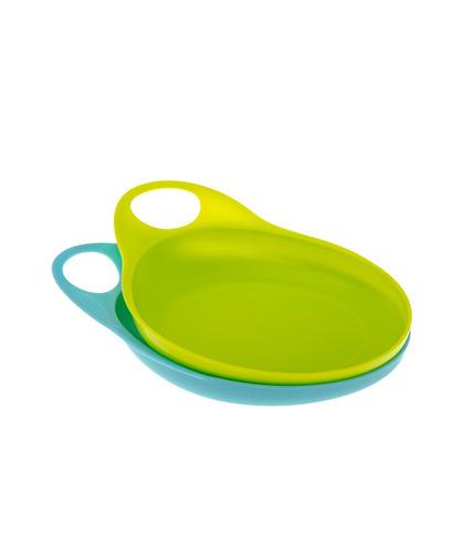 Talerzyki Easy Hold niebiesko- zielone
