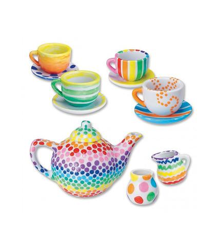 Pomaluj Własną Porcelanę - Zestaw do Herbaty