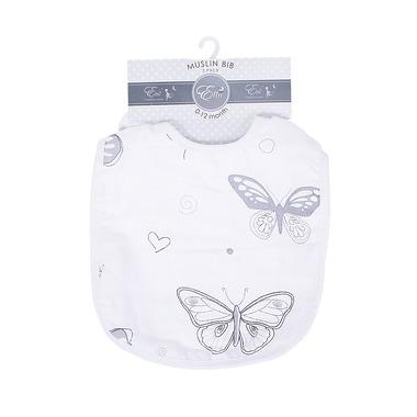 Muślinowe śliniaki Motyle Gwiazdka 2-set