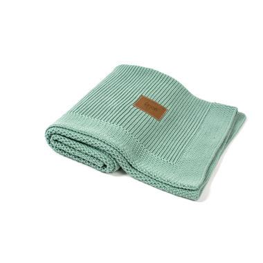 Poofi, tkany kocyk z bawełny organicznej mięta polna