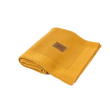 Poofi, tkany kocyk z bawełny organicznej miodowy