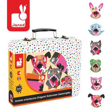 Janod, zestaw artystyczny Kreatywny Origami Kolorowe zwierzątka,