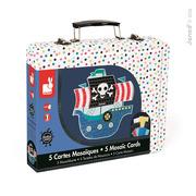 Janod, zestaw artystyczny Kreatywny Mozaika Piraci,