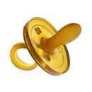 Ekologiczny kauczukowy smoczek uspokajacz - tradycyjny owalny 0-6 mcy