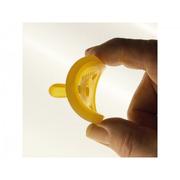 Ekologiczny kauczukowy smoczek uspokajacz - tradycyjny owalny 0 mcy bez uchwytu