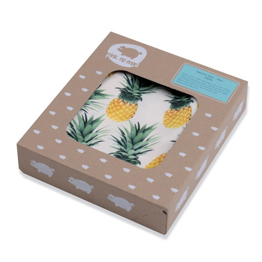 Bambusowa chusta - Soczyste ananasy 120x120cm