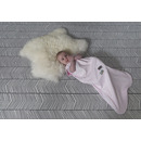 Nowość SNOOZEBABY Śpiworek do spania 3-9 miesięcy - biało-różowy