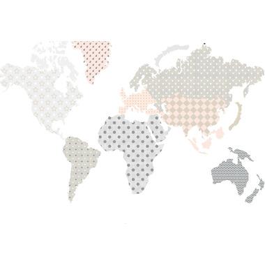 Dekornik, naklejki Ścienne Mapa 1