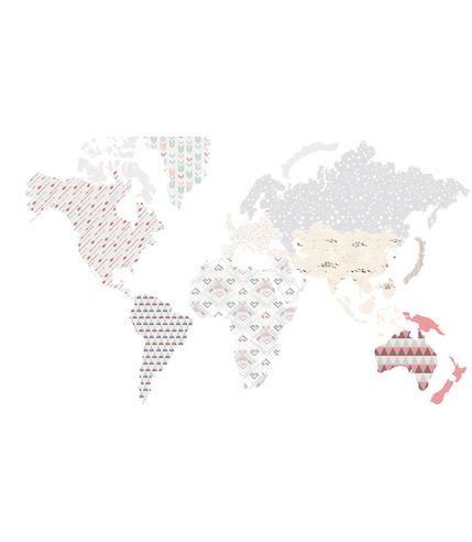 Naklejki Ścienne MAPA INDIAŃSKA