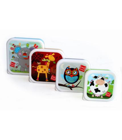 4 pudełka na przekąski, kwadratowe Friends Snack