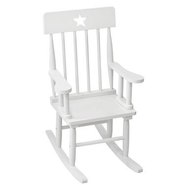 Krzesełko Bujane z Gwiazdkami Białe