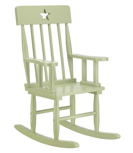 Krzesełko Bujane z Gwiazdkami Zielone