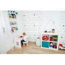 Kajtek - biurko dla dziecka z taboretem białe Planco