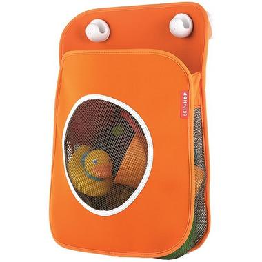 Skip Hop, organizer na zabawki kąpielowe pomarańczowy