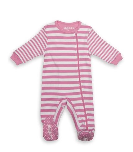 Pajacyk Sachet Pink Stripe 12-18m