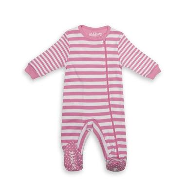 Pajacyk Sachet Pink Stripe 3-6m