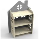 Zuzia - regał/półka/domek dla lalek szary