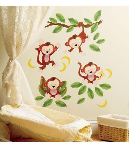 Naklejki Małe Małpki