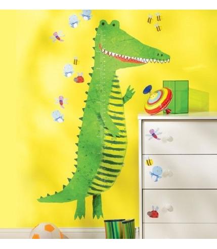 Naklejki Miarka Wzrostu Krokodyl