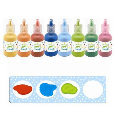 Djeco, zestaw 8 butelek farby plakatowej