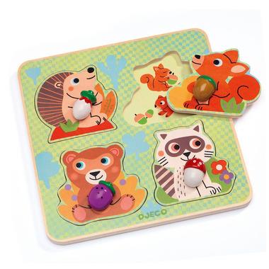 Djeco, Puzzle z uchwytami Croc-nut