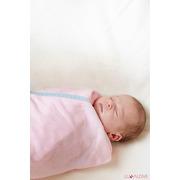 Otulacz bambusowy supeRRO newborn - różowy