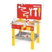 Janod, stolik warsztatowy z 24 akcesoriami Bricolo