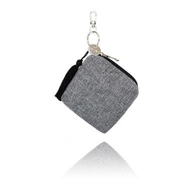 Mini torebka - etui na smoczki- szary melanż