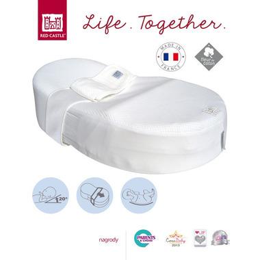 Red Castle, ergonomiczny materac dla niemowląt Cocoonababy Biały