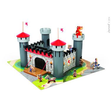 Janod, zamek rycerski drewniany z 9 akcesoriami