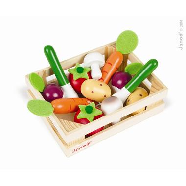Janod, warzywa drewniane 12 szt. w skrzyneczce