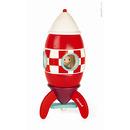 Janod, rakieta drewniana magnetyczna XXL