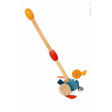Janod, kaczka drewniana pchacz