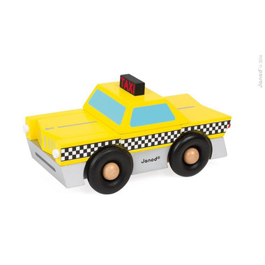 Janod, taksówka drewniana magnetyczna