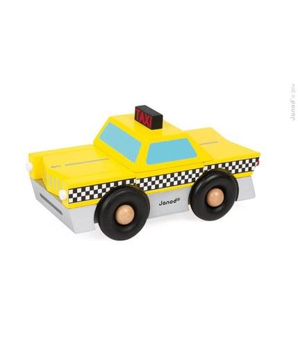 Taksówka drewniana magnetyczna