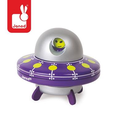 Janod, statek UFO drewniany magnetyczny