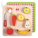 Janod, warzywa i owoce zestaw do krojenia drewniany magnetyczny