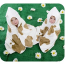 Dziecięcy Bambusowy Ręcznik, Krowie Łatki, Cuddlemoo